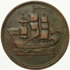 PEI Canada Colonial Token PE10-30 Ships & Colonies #11263