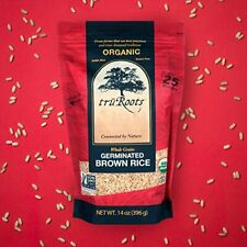 Truroots Organic Germinated Brown Rice Whole Grain, 15 Pound