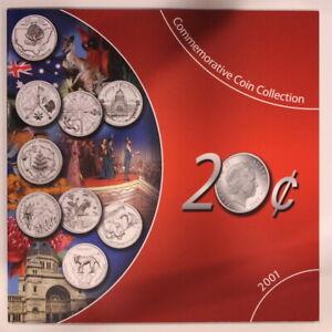 Australia 20 Cents 20c Sherwood Commemorative Coin Collection UNC 2001 (ME19E1)