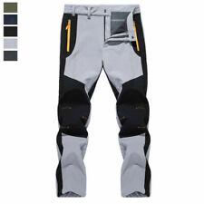 Men Waterproof Hiking Pants Fleece Lined Winter Thermal Trousers Outdoor Pants k