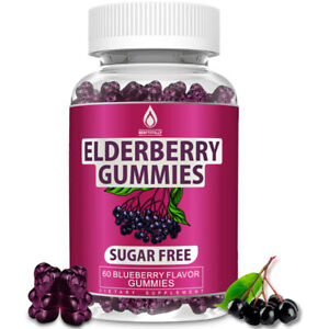 Sambucus Elderberry Gummies with Vitamin C, Zinc & Echinacea for Immune Support
