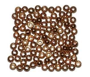 100 MDI Game Quality Gold (Brass Plated) beads for Fly Tying 2mm