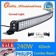 42INCH 240W CURVED LED WORK LIGHT BAR SPOT FLOOD JEEP 4X4WD TRUCK OFFROAD 40/44