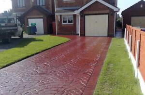 Imprinted concrete colour driveway sealer paint pattern imprint 20 litre Red)