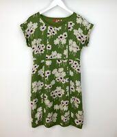 Boden Dress UK Size 12 Shift Silk Green Purple Floral Womans Summer Holiday