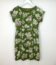 Boden Dress UK Size 12 Shift Silk Green Purple Floral Womans Summer Holiday