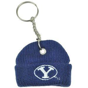 NCAA BYU Brigham Young Cougars Mini Beanie Knit Winter Hat Cap Key Chain Charm