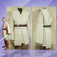 Star Wars Jedi Master Obi-Wan Kenobi Ben Tunic Outfit+Cloak/Robe COSplay Costume