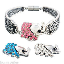 3 Mixte Boutons Pression Alliage Eléphant Pr Bracelet Personnalisé 21x25mm