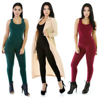 Womens Clubwear Playsuits Sleeveless Bodycon Slim Jumpsuit Romper Pants Trousers