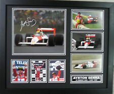 AYRTON SENNA SIGNED LIMITED EDITION FRAMED MEMORABILIA