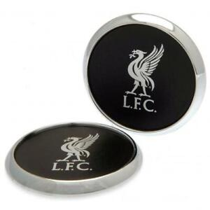 LIVERPOOL FC 2PK PREMIUM CREST DESIGN COASTER SET - OFFICIAL FOOTBALL GIFT, LFC
