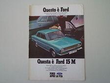 advertising Pubblicità 1970 FORD TAUNUS 15M 15 M