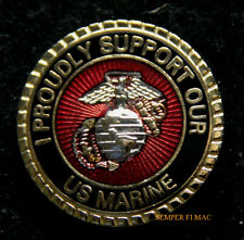I PROUDLY SUPPORT OUR US MARINE HAT LAPEL PIN UP US MARINES MOM DAD GIFT WM WOW