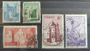 French Morocco 1955 5 stamps USED