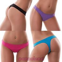 Perizoma slip donna thong liscio cotone basic tanga elasticizzato nuovo 368