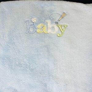 Carter's Blanket Blue Embroidered Baby Baseball Bat Plush Fleece 30 x 38  Lovey