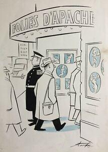 Leslie Starke New Yorker artist Original Cartoon NUDES Cinema published MEN ONLY