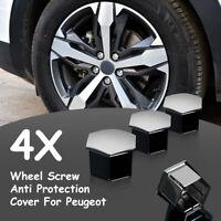 4x Titanium Car Wheel Nut Bolt Cover Cap Case For Peugeot 207 307 308 2008 4008