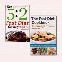 The Fast Diet Cookbook 2 Books Collection Set for Weight Loss(5:2 Fast Diet)