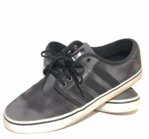 Adidas Eddie Van Halen Sneakers Sz 9 Black Gray Canvas EVH 791004 ART C76311