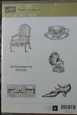 Timeless Treasures: Stampin' Up 6pc Unmounted Rubber Stamp Kit New
