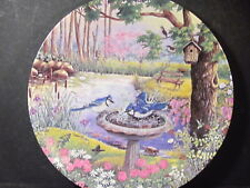 1993 Nature's Garden A MORNING SPLASH Bluejays Bird  Ltd Ed Plate