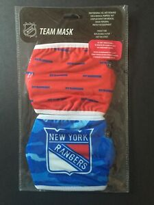 New York Rangers Licensed 2 Pack Adult Face Mask Covering -50% Off SRP! FREE S&H