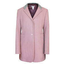 JIL SANDER wool angora winter topcoat jacket light mauve purple coat 42-DE/10-US