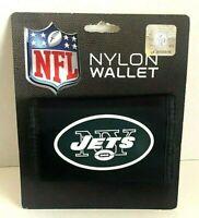 New York Jets NFL Football Nylon Tri-fold Vinyl Wallet Black