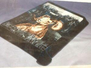 Solaron Korean Blanket throw Thick Mink Plush queen size Ram Licensed Acrylic