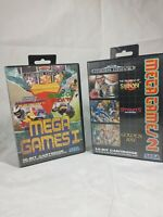 MEGA GAMES 1 + 2 Sega Megadrive Game Bundle Golden Axe Shinobi Streets of Rage