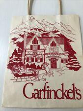 "High End Designer Shopping Bag From Garfinckel'S 8"" x 9 1/2"" 1983"