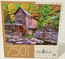Milton Bradley 750 Piece Puzzle Grist Mill West Virginia by Big Ben New Sealed
