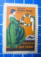 Cinderella/Poster Stamp - Austria 1914 Grazer Herbstmesse Graz Fair women 9518