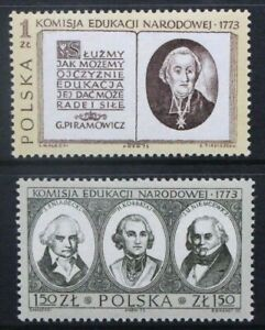 POLAND 1973 National Educational Commission Bicentenary Set of 2 MNH SG2264/2265