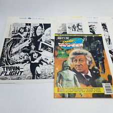More details for doctor who magazine #160 production artwork proof train-flight ep. 2 comic st...