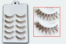 Makeup Handmade 5 Pairs Natural Long False Eyelashes Extension Exquisite Yc