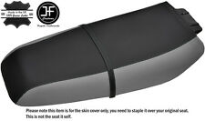 BLACK & GREY CUSTOM FITS KAWASAKI ZXi 1100 900 96-02 VINYL SEAT COVER + STRAP