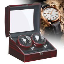 Automatic Rotation Wood&Leather&Glas s Best Watch Winder Storage Display Case 4+6