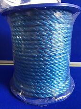 NEW Polypropylene 10mm Rope Twisted Cord Blue Pulleys, winches & gen use Floats