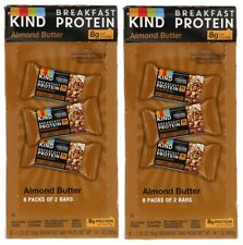 (2) KIND Breakfast Protein Bars, Almond Butter, 50 g Box, 8/Pack 602652204036