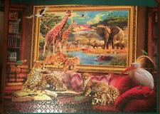 "Ceaco Puzzle ""Coming to Life The Savannah"" 1000 Pieces Safari Animals - Complete"
