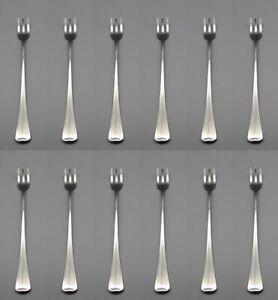 Oneida Stainless Distinction / Fireside Cocktail Forks - Set of Twelve * USA