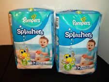 24 Count Pampers Splashers-Small-13-24 Pounds-Disposable Swim Pants