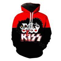 Rock Band KISS 3D Print Hoodies Mens Womens Casual Pullover Sweatshirts Tops
