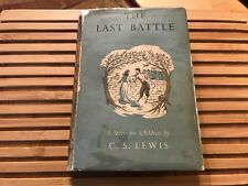 THE LAST BATTLE, C S Lewis (1956), *TRUE 1ST EDITION* w/ Original DJ