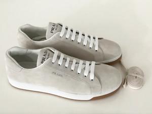 Prada Men's Beige Suede Sneakers