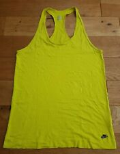 Nike Racerback Vest Top In Yellow Size L