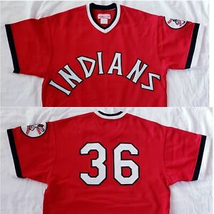 Vintage 1975 Mitchell & Ness GAYLORD PERRY #36 Cleveland Indians MLB Jersey HOF